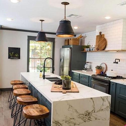 آشپزخانه زیبا طرح فیروزه
